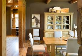 rustic hutch dining room:  rustic dining room with a fabulous china hutch that complements its style perfectly design
