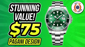 Stunning Value! $75 <b>Pagani Design</b> 'Submariner' - YouTube
