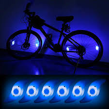 Teguangmei 6Pcs <b>Bicycle Hot Wheel Spoke</b> Lights, Blue Flashing ...