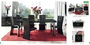 chair dining tables room contemporary: esf coco dining room set black
