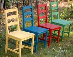 pressing on painted chairs bright painted furniture