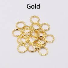 <b>200pcs</b>/<b>lot</b> 4 5 <b>6 8 10</b> mm Jump Rings Silver Split Rings Connectors ...