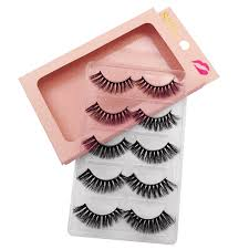 <b>SHIDISHANGPIN</b> 5 <b>Pairs</b> Eyelashes Natural <b>Mink</b> Eyelashes Fluffy ...