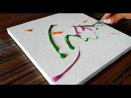 Easy <b>Abstract Painting</b> / Smearing <b>Paint</b> on <b>canvas</b> / Demonstration ...