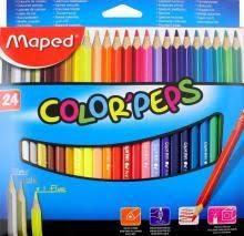 """""""<b>Карандаши цветные COLOR</b>'PEPS, 24 цвета, треугольные ..."""