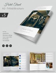 tri fold brochure word pdf psd eps excellent hotel travel a3 tri fold brochure hotletravel a3triifoldbrochure