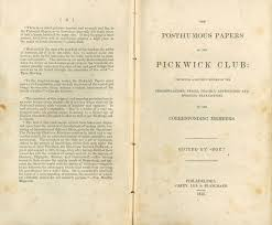 online exhibition charles dickens at college libraries pickwick papers title page