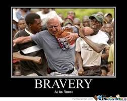 Brave Man Against Hungry Dudes by Pajjen - Meme Center via Relatably.com