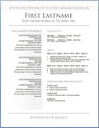 resume template  best free resume templates word resume template        resume template  sample best free resume template word with electromechanical technician employment experience  best