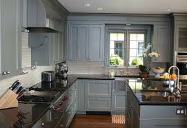 kitchen cabinets with granite countertops: grey kitchen cabinets with granite countertops