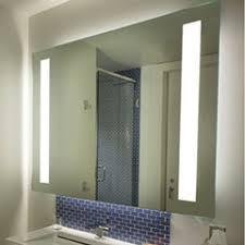 design bathroom mirror clock illuminated cabinet