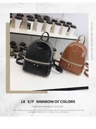 Oil Leather Teenage Girl Backpack 2019 New <b>Korean Style Women</b> ...