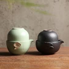 Ceramic mug two cup <b>drinkware coffee tea sets chinese</b> kung fu tea ...