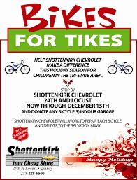 bikes for tikes provides bikes for children at christmas filed