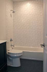 Hexagon Tile Floor Patterns Bathroom With Herringbone Pattern White Subway Tile Surround And