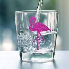 <b>12pcs Flamingo</b> paper sticker Hawaii <b>party</b> drinking cup sticker ...