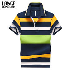 92% Cotton camisa Men Polo Shirt <b>2019 Casual Striped</b> Slim <b>short</b> ...