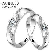 Big 95% OFF! <b>YANHUI</b> 100% <b>Original Solid 925</b> Silver Wedding ...