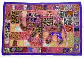 <b>Beads</b> Wall Hanging Vintage Embroidery Decor Elephant Wall ...