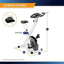 Marcy <b>Foldable Exercise Bike</b> with Adjustable Resistance for Cardio ...