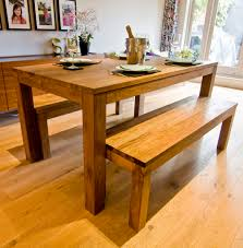 Kitchen Table With Benches Set Wooden Dining Table And Bench Dining Room