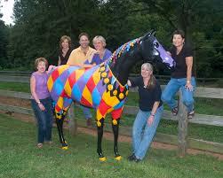 elaine elinsky art harlequin horse horsing around loudoun