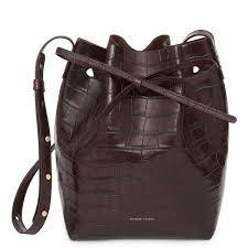 Croc Embossed Mini Bucket Bag - Croc ... - MANSUR GAVRIEL