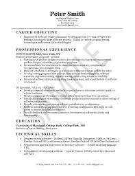 quality assurance resume example resume format for quality engineer