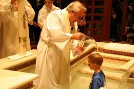 Image result for photos of the the baptism of water catholic