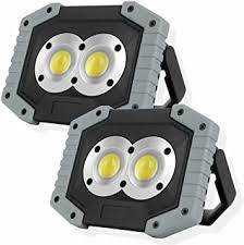 OTYTY COB 30W 1500LM <b>LED</b> Work Light 2 Pack, <b>Rechargeable</b> ...