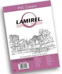 <b>Обложка Lamirel Transparent</b> A4, PVC, зеленые, 200 мкм (арт. LA ...