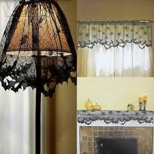 <b>Halloween lace bat</b> curtains fireplace cloth lampshade home ...