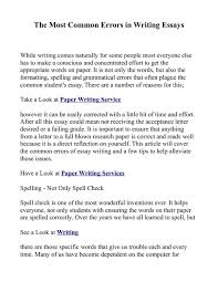 most common essay mistakes   keys to writing a research paper how to write ap essays