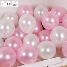 "<b>30pcs</b>/<b>lot 10</b>"" 1.5g Pearl Pink White Latex Balloons Celebration ..."