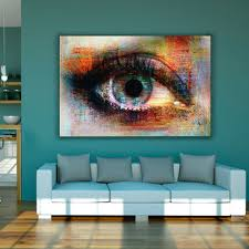 Abstract Art Colorful Eye Canvas Painting Wall Pictures For Living ...