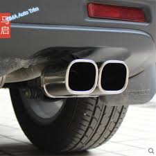 Lapetus Rear Double <b>Exhaust Muffler Tail Pipe</b> Outlet Decoration ...