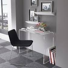 peekaboo clear console in office furniture cb2 floor tiles and lucite desk acrylic office furniture