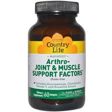 Country Life, <b>Arthro</b> - <b>Joint & Muscle Support</b> Factors, 60 Softgels on ...