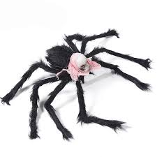 Simulate Plush Spider with Foam <b>Skull</b> Head Toy for <b>Party</b> ...