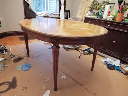 Refinishing A Dining Room Table Refinish Dining Room Table Veneer Home Decor