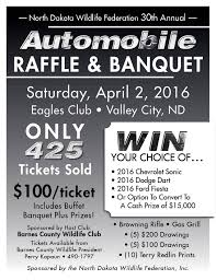 barnes county wildlife federation ndwf automobile raffle banquet poster2016