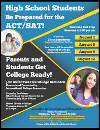 sat course prep and college preparation seminars friends of the also understand the role grades standardized tests course load and extracurricular activities play in order for student to get into the college of their