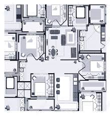 Grey House Plan On A White Background Royalty Free Cliparts    Vector   Grey House Plan on a white background