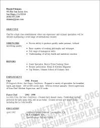 pics photos culinary arts sous chef resume example chef resume objective