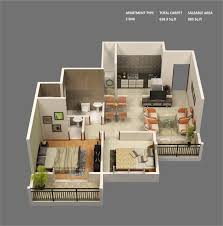Small Two Bedroom House  Superb Small Scale Homes  Square Foot - Two bedroomed house plans