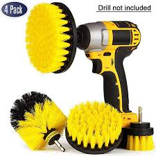 4 Pack <b>Drill Brush</b> Attachment Kit - <b>Drill Brush Power Scrubber</b> for ...