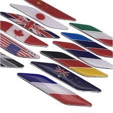 <b>2Pcs</b> Set <b>Car Styling ABS</b> 3D Flag Leaf Side Fender Emblem