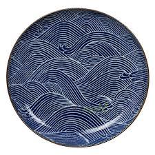 <b>Тарелка</b> Seigaiha 25 см фарфор синий серия <b>Тарелки Tokyo</b> ...