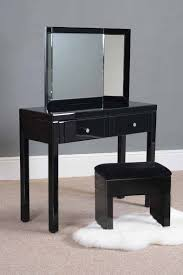 tables madison table x: madison black glass dressing table elly triple folding mirror amp black glass stool