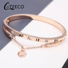 <b>Cuteeco Luxury</b> Famous Jewelry Pulseira <b>Rose</b> Gold Stainless Steel ...